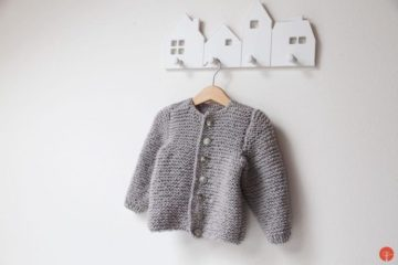 Hand knitted kids cardigan