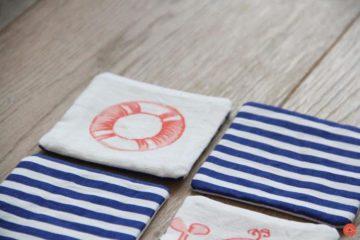 Handmade fabric memory game for kids