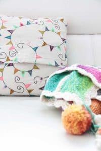 Hand crochet pillow case