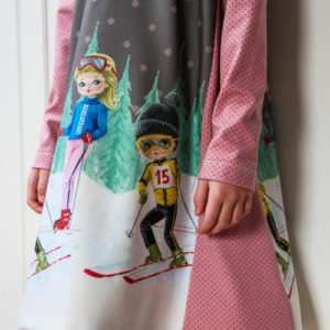Kid's simple dress sewing pattern and tutorial