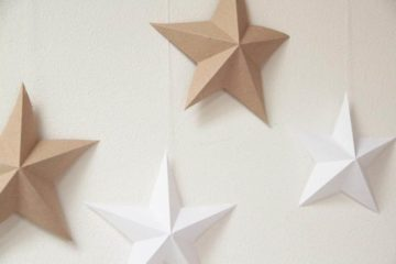 Paper stars - DIY decoration tutorial